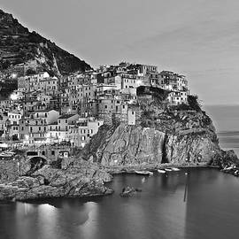 Frozen in Time Fine Art Photography - Black and White Night for Manarola