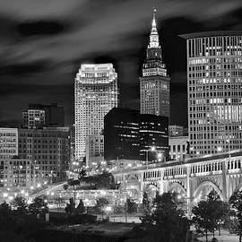 Frozen in Time Fine Art Photography - Black and White Night in the Big City