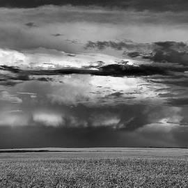 Jeff Swan - Black and White of North Dakota Landscape