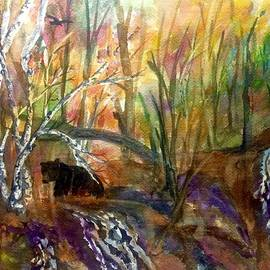 Ellen Levinson - Black Bear in Autumn Woods