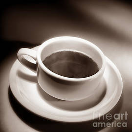 Black Coffee White Cup - Olivier Le Queinec
