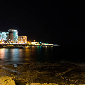 Georgia Mizuleva - Black Night Bright Lights - Sliema Famous Waterfront