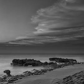Andres Leon - Blowing Rocks Black and White Sunrise