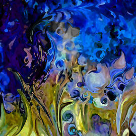Sherri  Of Palm Springs - Blue Abstract Blue Symphony In Color by Sherri Nicholas Of Palm Springs