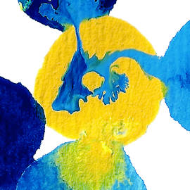 Amy Vangsgard - Blue and yellow Interactions A