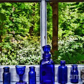Paul Ward - Blue Bottles on Window Sill