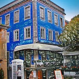 Sue Melvin - Blue Cafe on the Corner