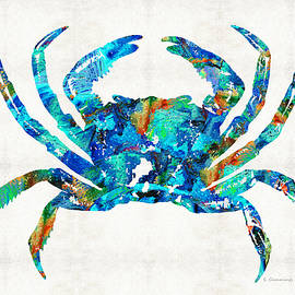 Sharon Cummings - Blue Crab Art by Sharon Cummings