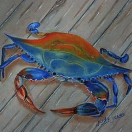 Judy Jones - Blue Crab on the Dock