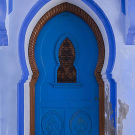 Lindley Johnson - Blue Door in Chefchaouen