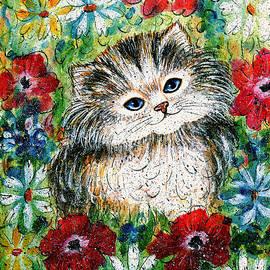 Natalie Holland - Blue Eyed Kitten In Garden