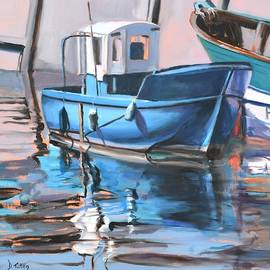 Donna Tuten - Blue Fishing Boat