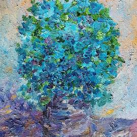 AmaS Art - Blue flowers in a vase