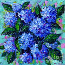 Mona Edulesco - Blue Hydrangeas - Abstract Floral Composition