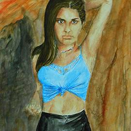 Jayne Somogy - Blue Lace at the Rock Quarry -- Portrait of Young Woman