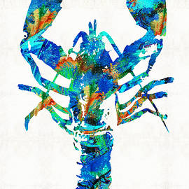 Blue Lobster Art by Sharon Cummings - Sharon Cummings