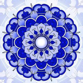 Prajakta P - Blue Mandala flower