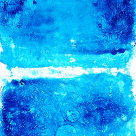 Blue Modern Art - Two Pools - Sharon Cummings - Sharon Cummings