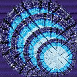 Navin Joshi - Blue Moon shine Chandelier created out of Ethnic Jaipur Fashion Fabric Cotton Vegitable Color printe