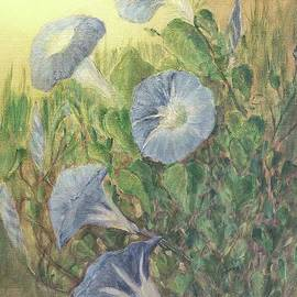 Janette Boyd and Janie Chase - Blue Morning Glories