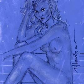 P J Lewis - Blue Nude