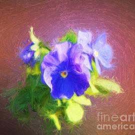 Linda Phelps - Blue Pansies