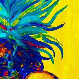 Eloise Schneider - Blue Pineapple Abstract