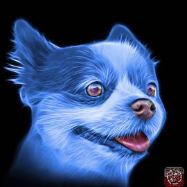 Blue Pomeranian dog art 4584 - BB