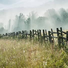 Mark VanDyke - Blue Ridge Parkway Fence and Light Shower