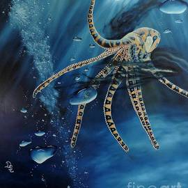 Dianna Lewis - Blue Ring Octopus