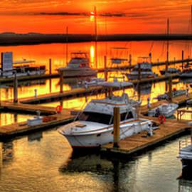 Reid Callaway - Blue River Marina Sunrise Panorama Art
