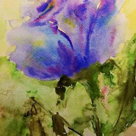 AmaS Art - Blue Rose Watercolor