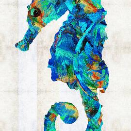 Blue Seahorse Art by Sharon Cummings - Sharon Cummings