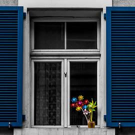 Blue Shuttered Window