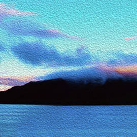 Barbara Snyder - Blue Skies and Blue Water of the Inside Passage Alaska Painting