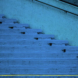 David Smith - Blue Stairs Yellow line San Francisco
