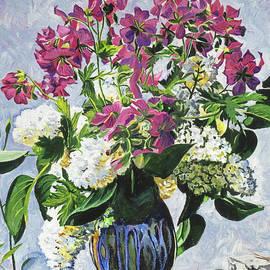 David Lloyd Glover -  Blue Vase Arrangement