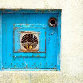 Blue ventilator panel - Tom Gowanlock