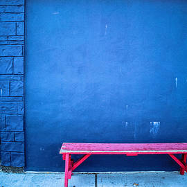 Colleen Kammerer - Blue Wall Pink Bench