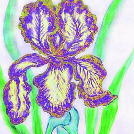 Irina Afonskaya - Blue-yellow iris, painting