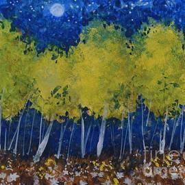 David K Myers - Blue Yellow, Watercolor Gouache