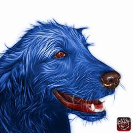 James Ahn - Bluee Golden Retriever Dog Art- 5421 - WB