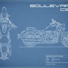 Blueprint Of A Boulevard C50 Motorcycle - Mark Rogan