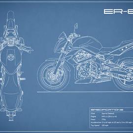 Blueprint Of A ER-6n Motorcycle - Mark Rogan