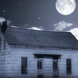 William Sturgell - Boarded Up House in the Moonlight