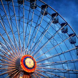 Carolyn Derstine - Boardwalk Ferris Wheel at Dusk