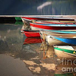 Vickie Emms - Boat Reflections Cameron Lake