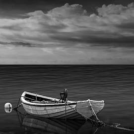 Randall Nyhof - Boat under a Cloudy Sky
