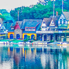 Bill Cannon - Boathouse Row on the Schuylkill River in Philadelphia