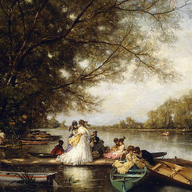 Boating Party on the Thames - Ferdinand Heilbuth